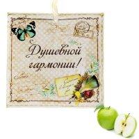 Арома-саше в конвертике душевной гармонии, аромат зеленого яблока