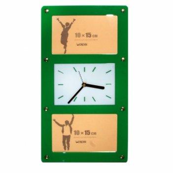 Часы счастливый миг- с фоторамками 10х15см (2шт) fr0206 20х4