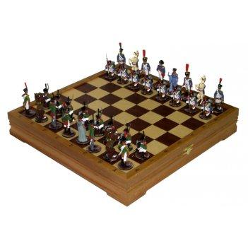 Rts-52.d шахматы из олова исторические. цинк - цвет: серебро и золото
