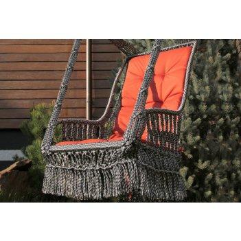 Подвесное кресло качели инка с подушкой + каркас форк (дерево)