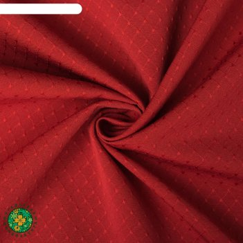 Штора портьерная этель 270*300 см английский стиль красный,100% п/э