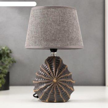 Лампа настольная 16242/1gr-gd e14 40вт серо-золотой 15х20х31 см
