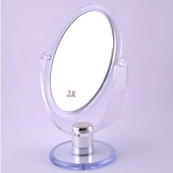 Зеркало kf 756 настольное 2-х сторон. 3-х кр. увелич. (6/24)