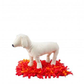 Игровой коврик osso fashion для поиска лакомств, 45 х 35 см, серый/оранжев
