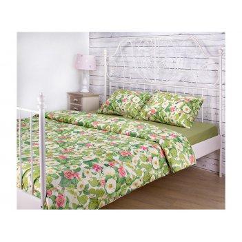 Кпб 1,5 спальный жасмин под 150*215 -1шт., пр (цвет св.зеленый) 180*220 -1