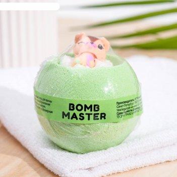 Бомбочка для ванн bomb master веселые зверята зеленая, 130 гр.