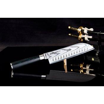Нож кухонный сантоку samura damascus sd0094 лезвие 175 мм