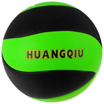 Мяч волейбольный пляжный р.5, 280 гр, цвет черно-салатовый