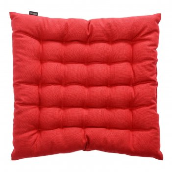 Подушка на стул russian north, размер 40х40х4 см, цвет красный