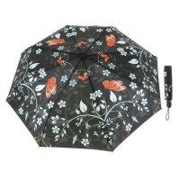 Зонт женский бабочки, суперавтомат, 3 сложения
