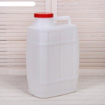 Канистра пищевая «бочонок», 25 л, белая
