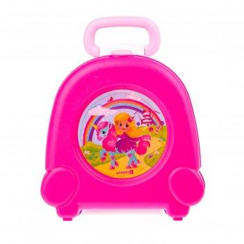 Горшок детский переносной, цвет розовый