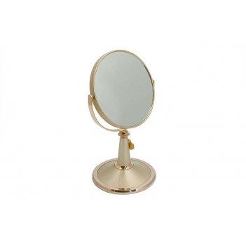 Зеркало* b6209 g5/g gold настольное 2-стор. 5-кр.ув.15 см.