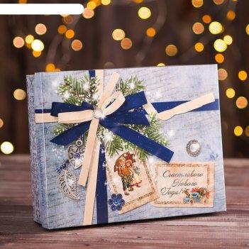 Подарочная коробка ретро (крышка/дно) - 235*65*187