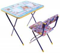 Набор детской мебели маша и медведь. азбука 2 складной: стол, стул мягкий