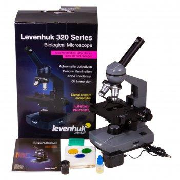 Микроскоп levenhuk 320 plus, монокулярный