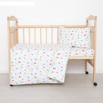 Постельное бельё детское игрушки 112x147, 100x150, 40x60 1 шт, ситец/бязь,