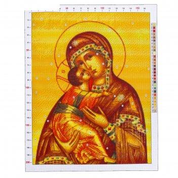 Канва для вышивания с рисунком «владимирская божья матерь», 47 х 39 см