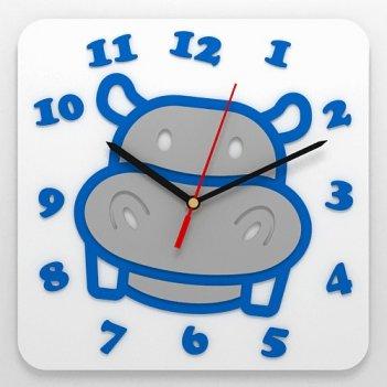 Детские часы бегемот
