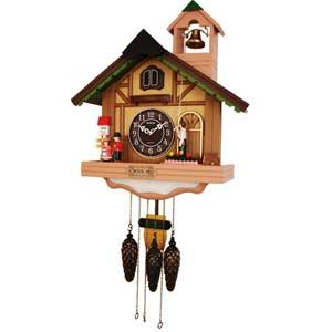 Настенные часы с кукушкой sinix 811pink