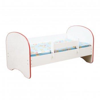 Кровать детская с бортом «радуга», без ящика, 700 x 1400 мм, цвет белый /