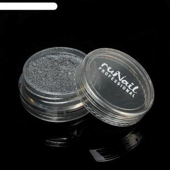 Пыль для дизайна ногтей, цвет чёрный матовый