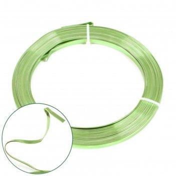 Проволока бонсайная плоская,5 мм x 5 м, зелёный