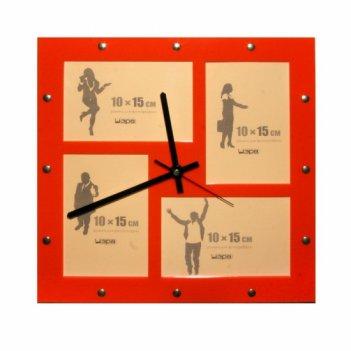 Часы добрая память- с фоторамками 10х15см (4шт) fr0201 32х32