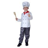 Карнавальный костюм поваренок, 4 предмета: рубашка, брюки, шарф, размер m