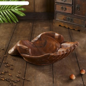 Сувенир дерево ладоши коричневый цвет 30х20х8 см