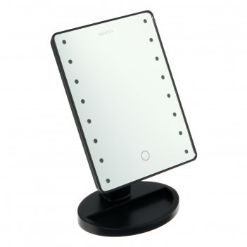 Зеркало marta mt-2654, подсветка, 28 x 6 x 19.5 см, 16 светодиодов, 4хаа,