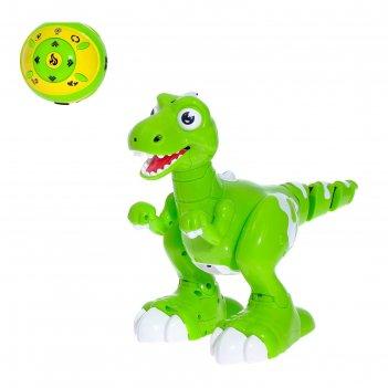 Робот радиоуправляемый динозавр, реагирует на движение руки, функция поиск