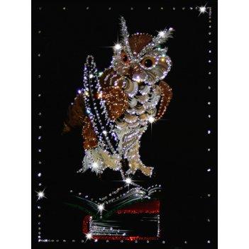 Картина сваровски - мудрая сова