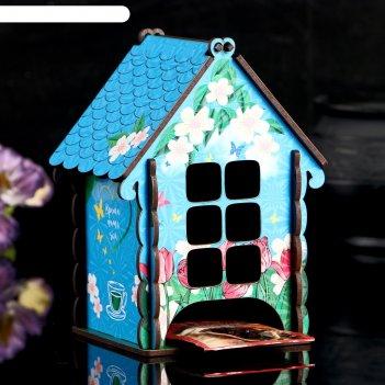 Чайный домик с праздником весны тюльпаны