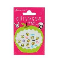 Наклейки для ногтей детские смайлик поцелуй, цвета микс