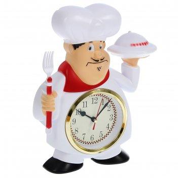 Часы настенные, серия: кухня, кушать подано, 22х28 см