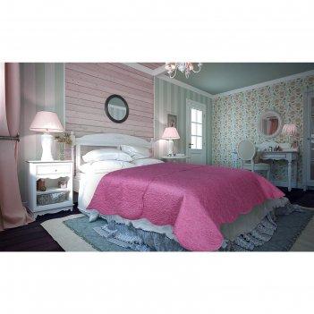 Покрывало damask, размер 220 x 240 см, цвет розовый