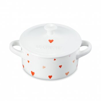 Кокот hearts, объем: 0,25 л, диаметр: 10 см, материал: керамика, цвет: бел