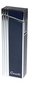 Зажигалка caseti газовая турбо, сплав цинка, хром синий лак, 2,4х1,3х7,6