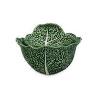 Супница с крышкой «капуста», объем: 3 л, материал: керамика, цвет: зеленый
