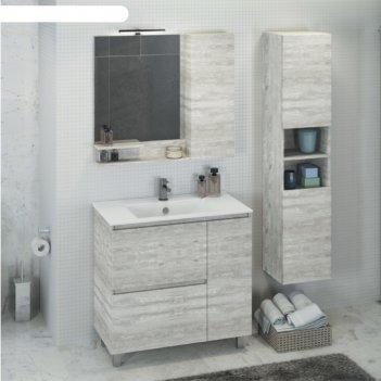 Зеркало-шкаф comforty «верона-90» дуб белый