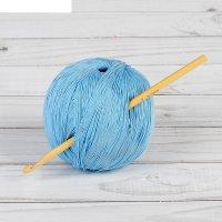 Крючок для вязания бамбуковый, d=5,0мм, 15см