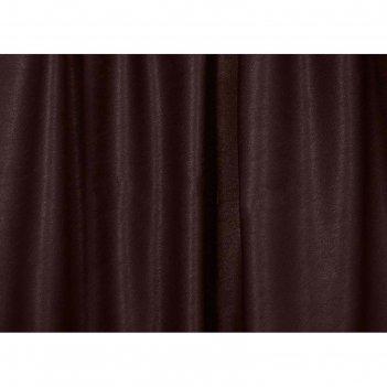 Ткань портьерная в рулоне, ширина 280 см, однотонная, софт 80221