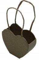 Сумочка мини в форме сердца из папье-маше, 7,5 х 3 х 11,5 см