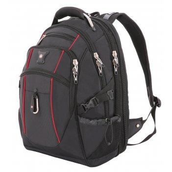 """Рюкзак swissgear, 15"""", чёрный/красный, полиэстер 900d/м2 добби, 34x23x48 с"""