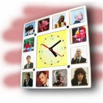 Часы сменные картинки белые  cl109б 26х26см