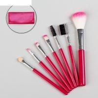 Набор кистей для макияжа, 7 предметов, 17,5*7*3см, цвет микс