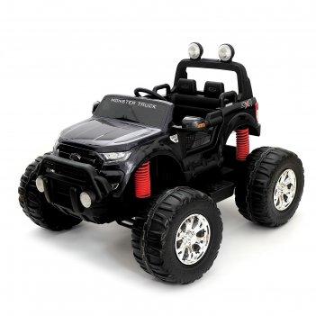 Электромобиль ford ranger, 4wd полный привод, глянец черный, монитор