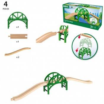Brio арочный мост с возможностью наращивания,4 эл.,кор.29х15х9 см
