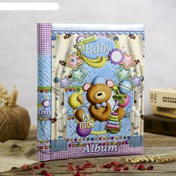 Фотоальбом 20 магнитных листов детские игрушки микс 29х24х2 см